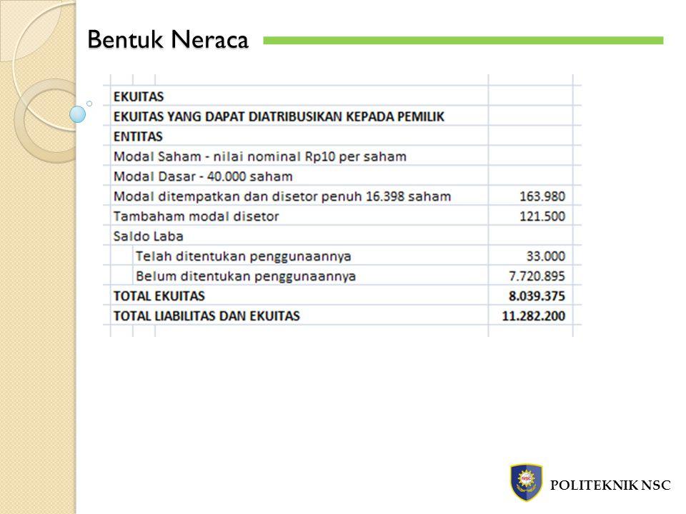 Bentuk Neraca POLITEKNIK NSC