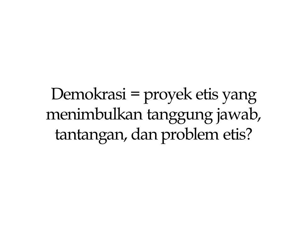 Indeks Demokrasi Indonesia 2007  Provinsi Jawa Timur berada pada peringkat 15 di antara 33 provinsi di Indonesia;  Aspek atau variabel yang dinilai: ◦ Kebebasan Sipil ( Civil Liberties )= 62,3 ◦ Hak-hak Politik ( Political Rights )= 74,4 ◦ Lembaga-lembaga Demokrasi ( Democratic Institutions )= 48,1  Lembaga demokrasi mencakup: kualitas pemilu, peran DPRD, peran partai politik, peran birokrasi pemerintah daerah, dan indepensi pengadilan.