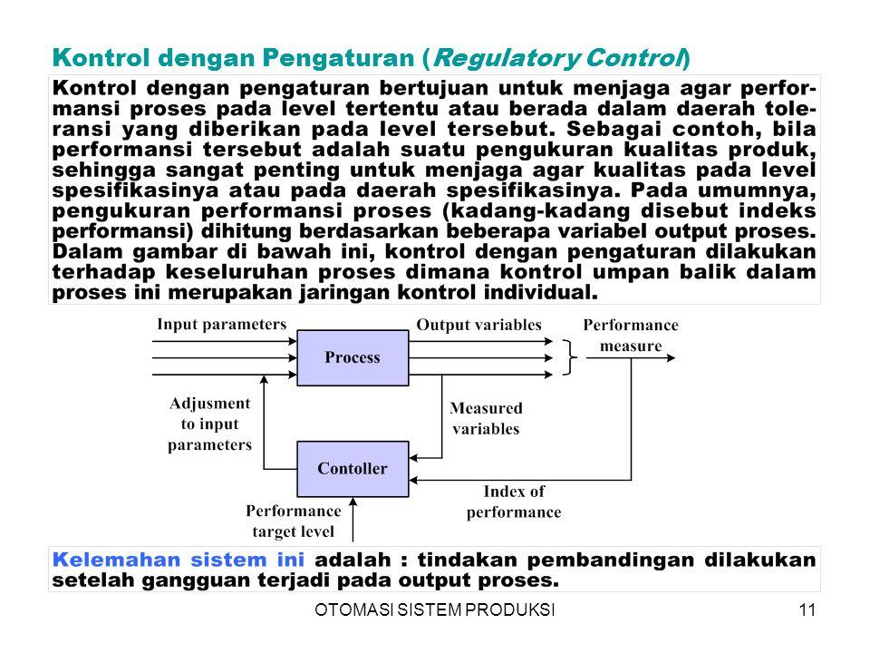 OTOMASI SISTEM PRODUKSI11 Kontrol dengan Pengaturan (Regulatory Control) 