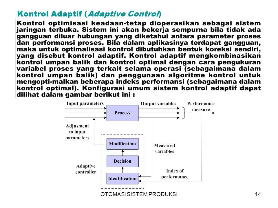 OTOMASI SISTEM PRODUKSI14 Kontrol Adaptif (Adaptive Control)