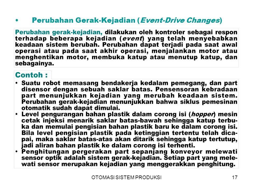 OTOMASI SISTEM PRODUKSI17 Perubahan Gerak-Kejadian (Event-Drive Changes) 