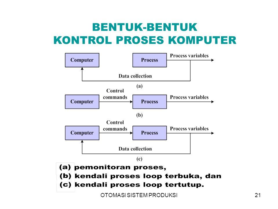 OTOMASI SISTEM PRODUKSI21 BENTUK-BENTUK KONTROL PROSES KOMPUTER