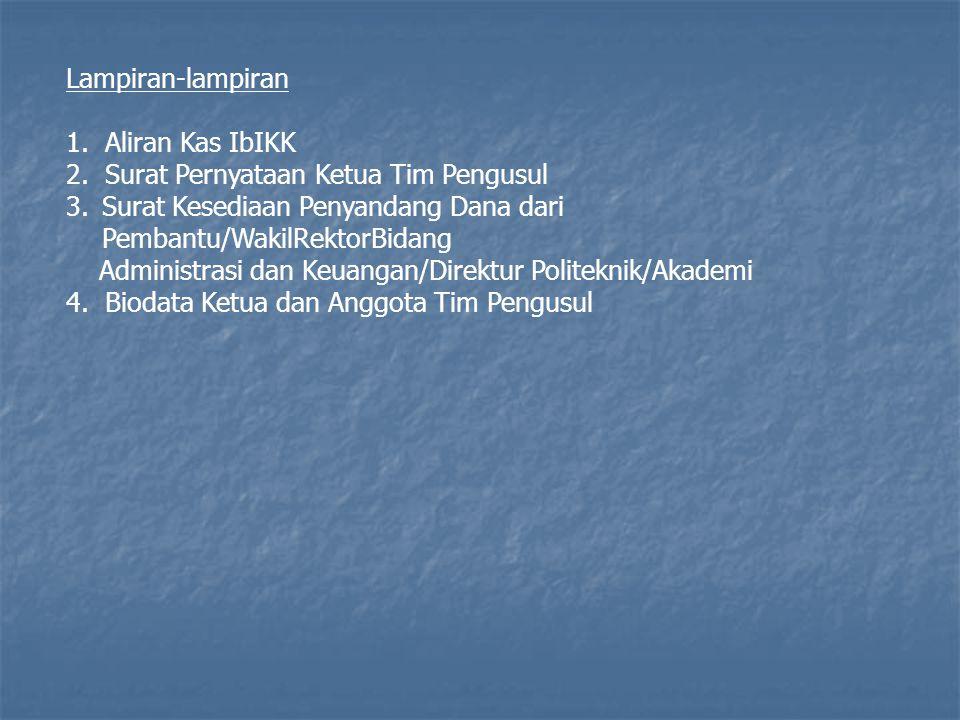 Lampiran-lampiran 1.Aliran Kas IbIKK 2.