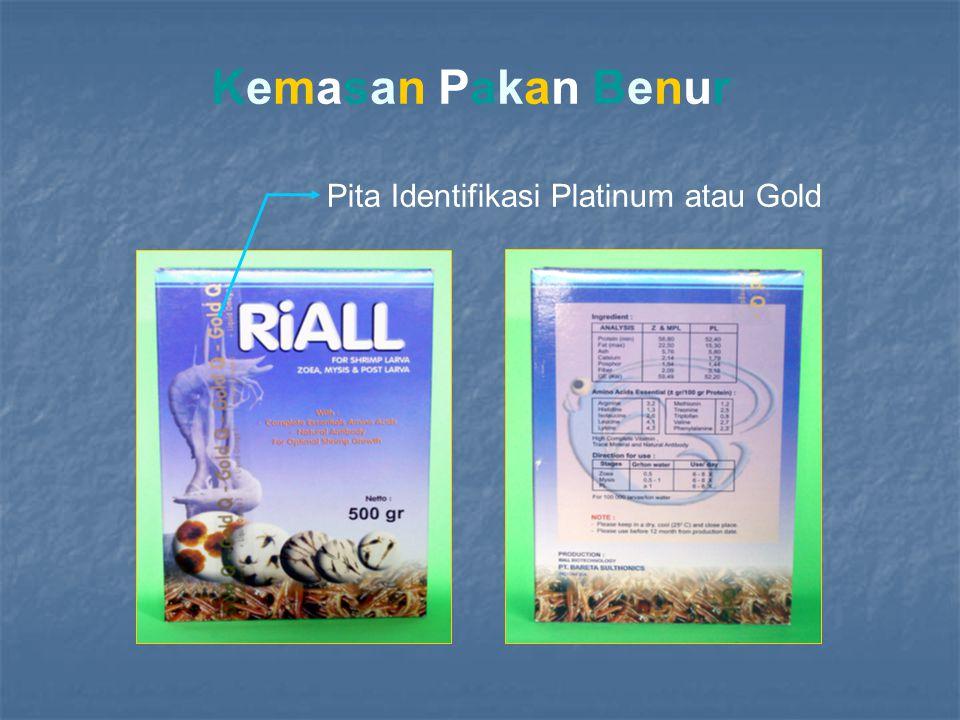 Pita Identifikasi Platinum atau Gold Kemasan Pakan Benur