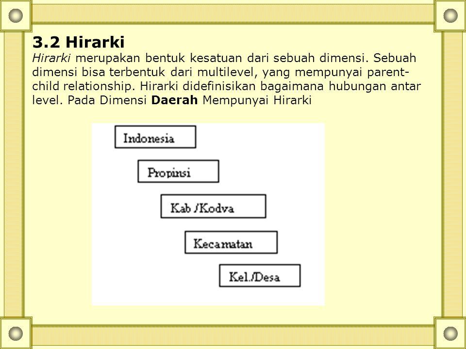 3. Konsep Multi-dimensional data Pada Relational database data dikelompokan dalam sebuah list record. Setiap record mempunyai informasi yang dikelompo