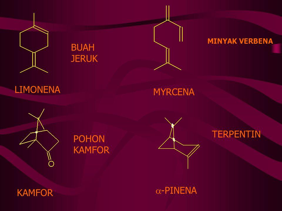 MENTHOL 3-HIDROKSI-4-ISOPROPIL-1-METIL SIKLOHEKSANA DAUN MINT THYMOL MENTHOL SITRUN SITRAL A = GERANIAL SITRAL B = NERAL