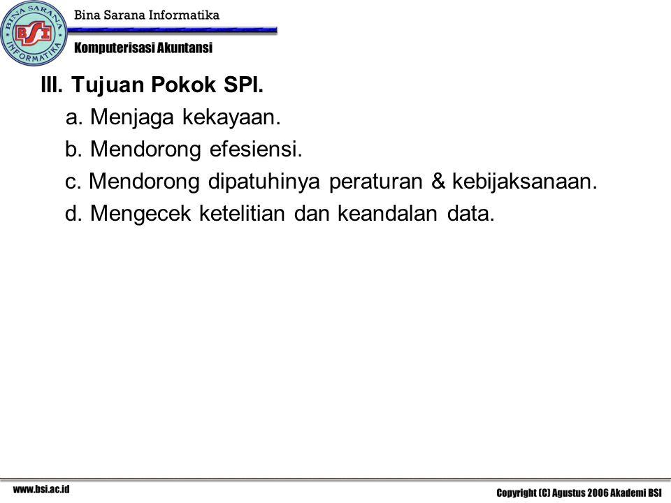 IV.Tujuan Lain SPI. a.Setiap transaksi yang dicatat adalah sah (validitas).
