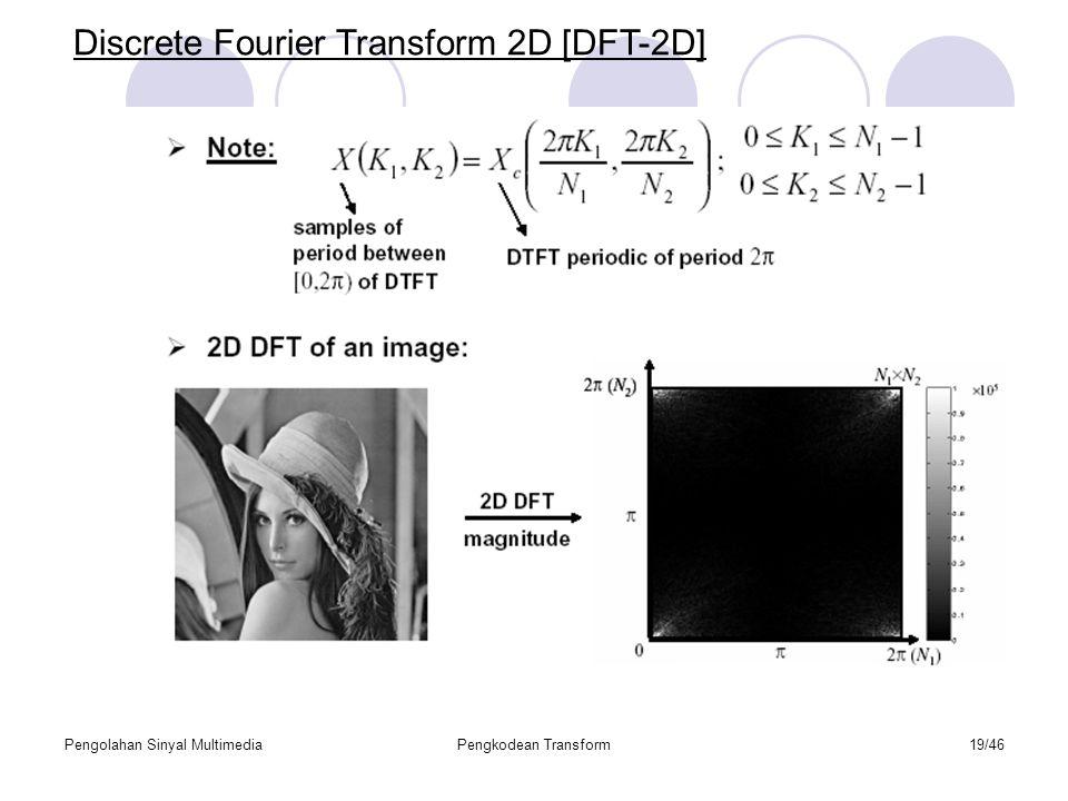 Pengolahan Sinyal MultimediaPengkodean Transform19/46 Discrete Fourier Transform 2D [DFT-2D]