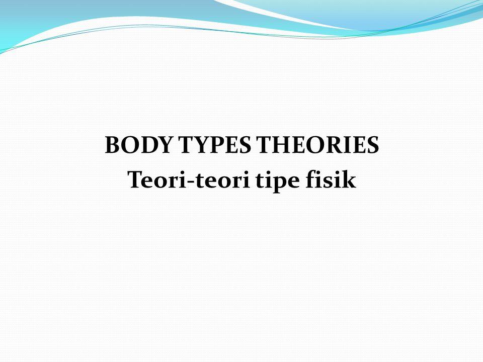 BODY TYPES THEORIES Teori-teori tipe fisik