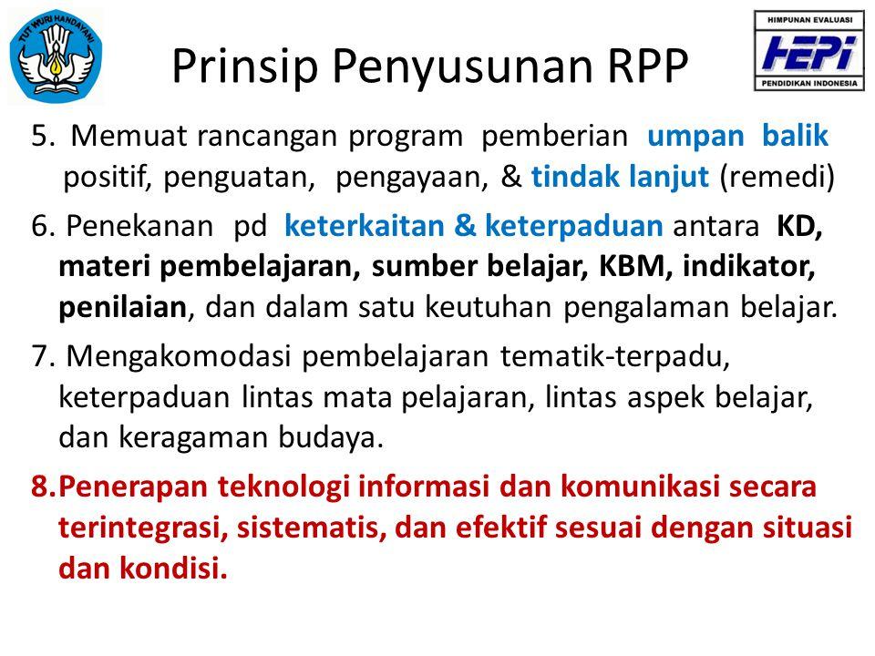 Komponen RPP Nama Sekolah/Madrasah:.................................