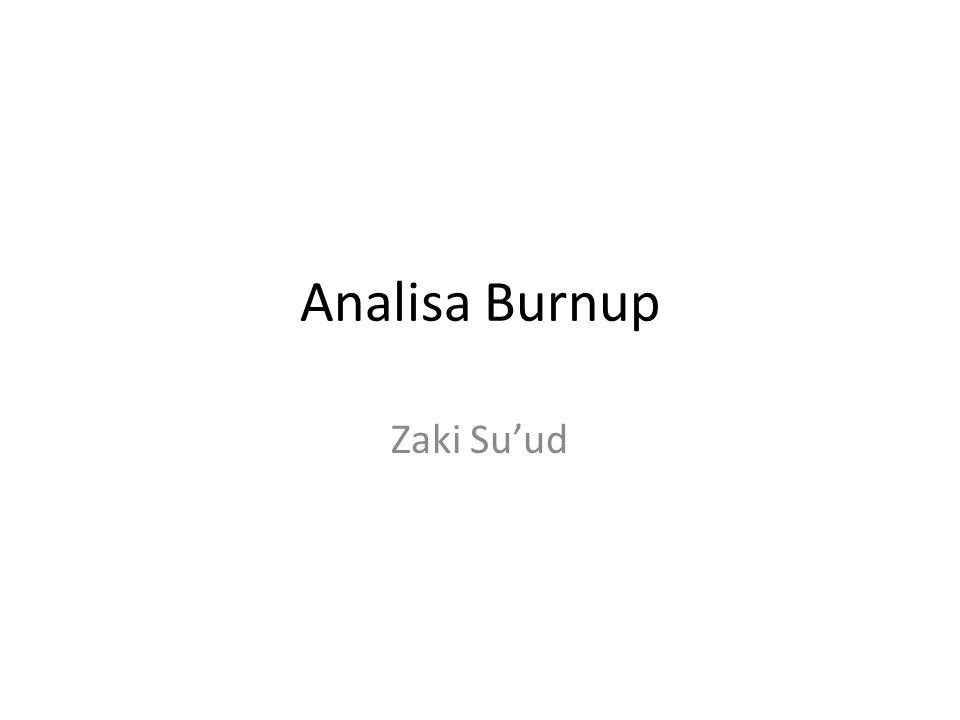 Analisa Burnup Zaki Su'ud