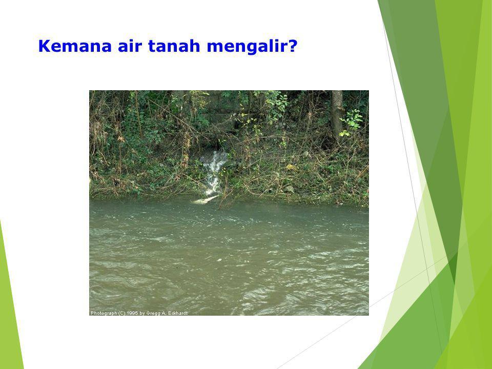 Kemana air tanah mengalir?