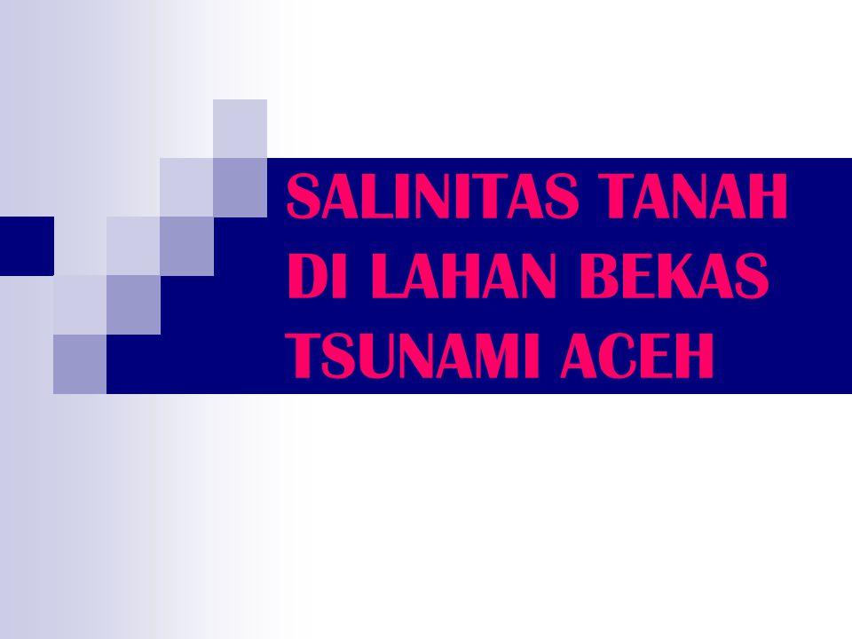 SALINITAS TANAH DI LAHAN BEKAS TSUNAMI ACEH