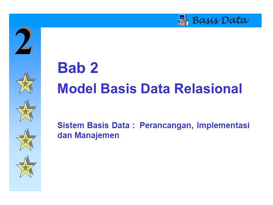 2 2 Basis Data  Struktur model basis data relasional dan kebebasan data memungkinkan kita untuk memandang data secara logika daripada secara fisik.
