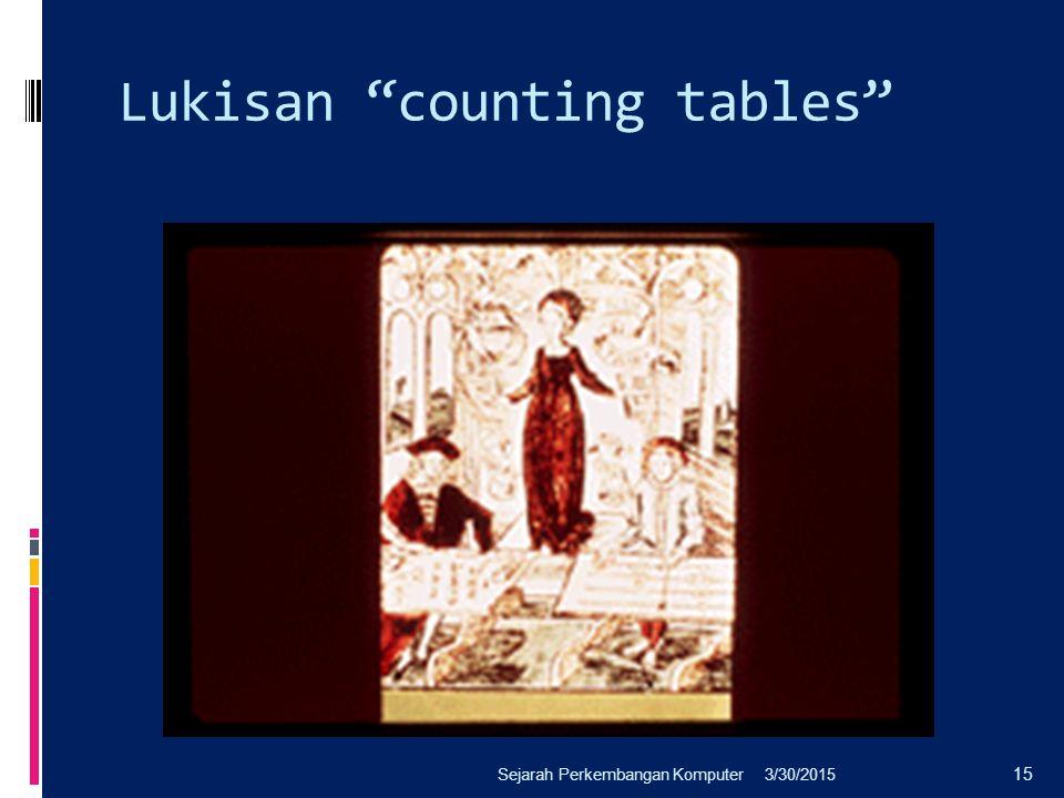 "Lukisan ""counting tables"" 3/30/2015Sejarah Perkembangan Komputer 15"