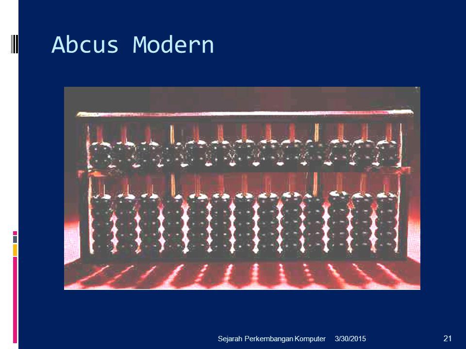 Abcus Modern 3/30/2015Sejarah Perkembangan Komputer 21