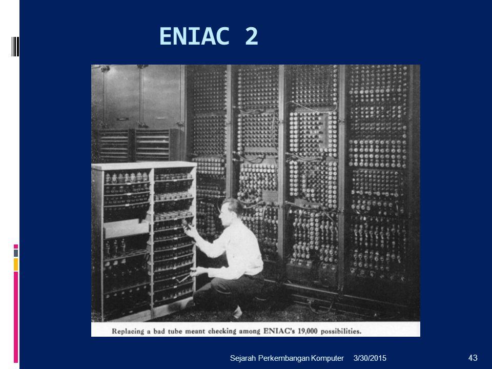 ENIAC 2 3/30/2015Sejarah Perkembangan Komputer 43