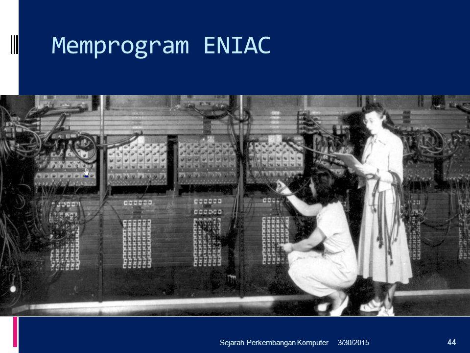 Memprogram ENIAC 3/30/2015Sejarah Perkembangan Komputer 44