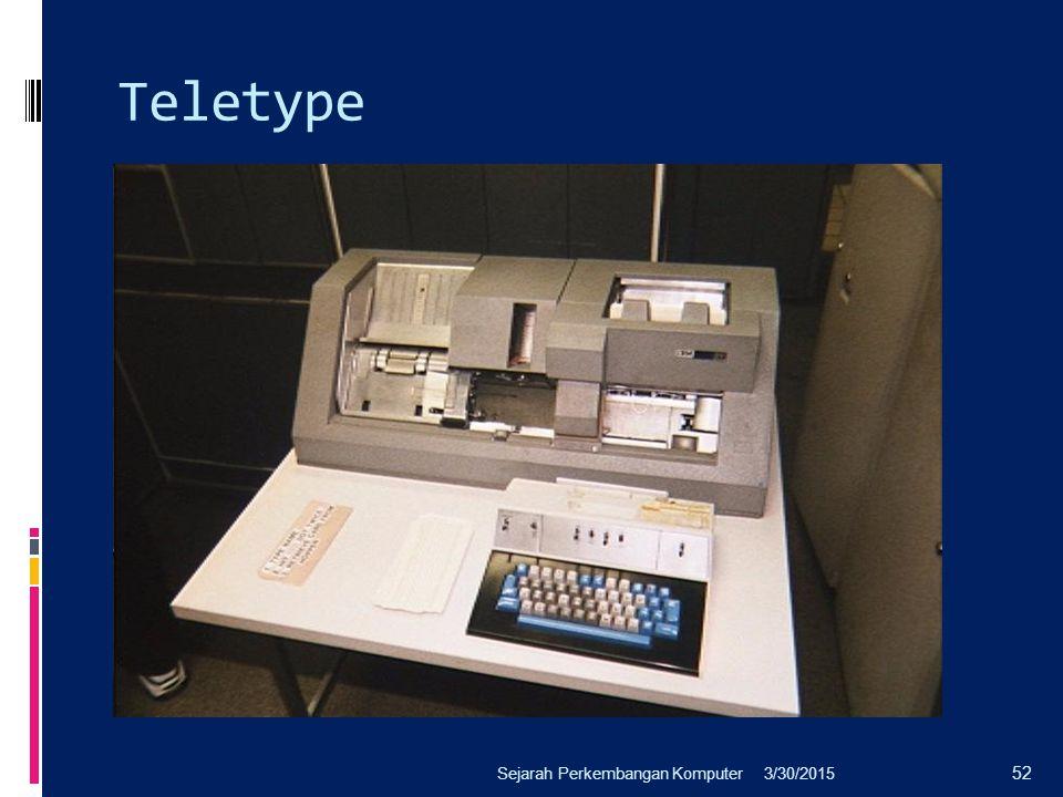 Teletype 3/30/2015Sejarah Perkembangan Komputer 52