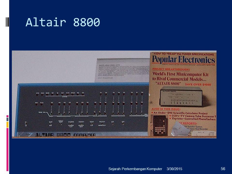 Altair 8800 3/30/2015Sejarah Perkembangan Komputer 56