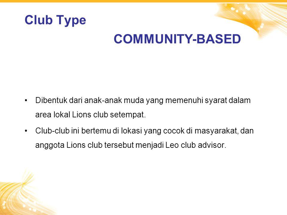 Dibentuk dari anak-anak muda yang memenuhi syarat dalam area lokal Lions club setempat.