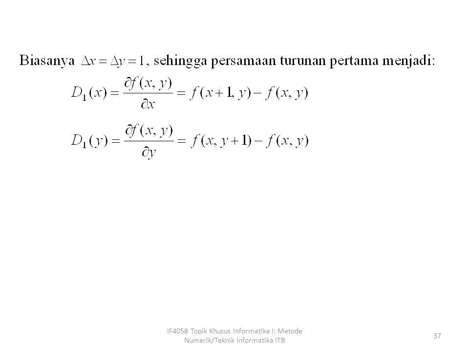 IF4058 Topik Khusus Informatika I: Metode Numerik/Teknik Informatika ITB 37