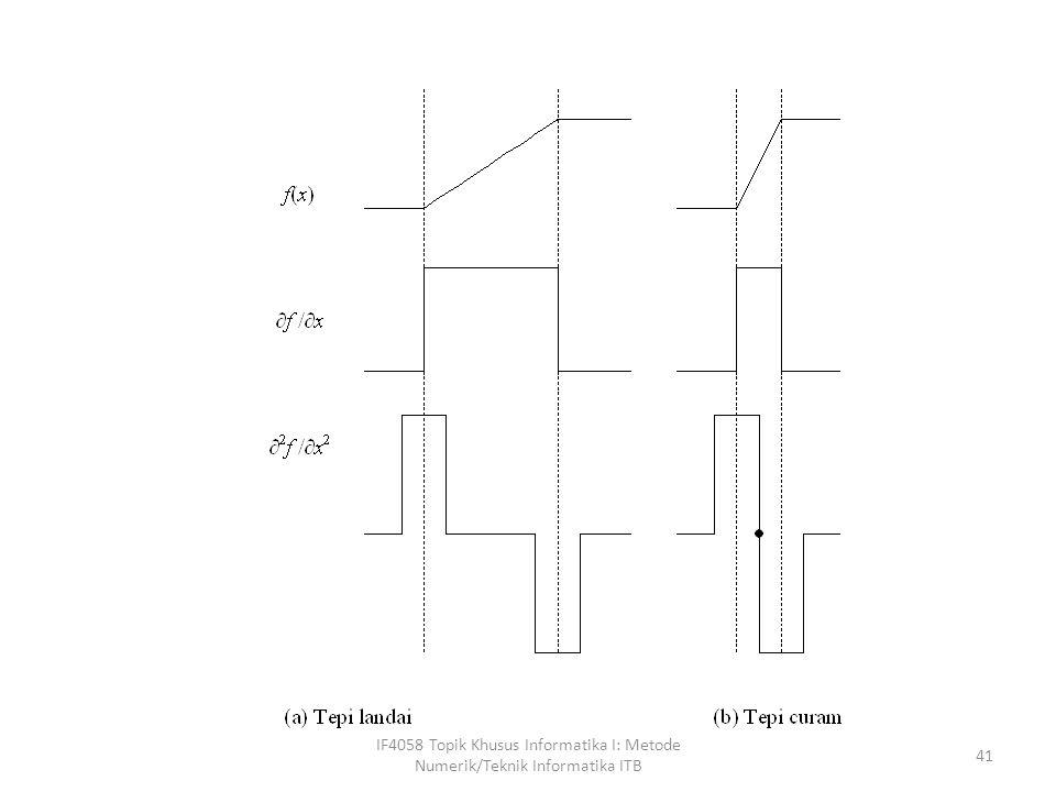 IF4058 Topik Khusus Informatika I: Metode Numerik/Teknik Informatika ITB 41
