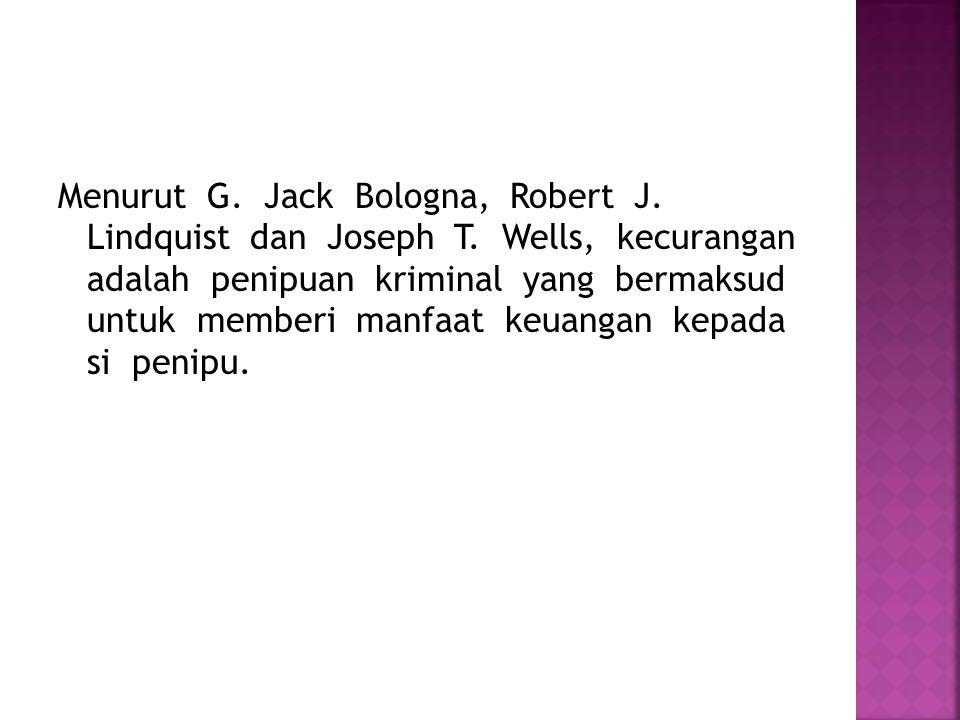 Menurut G.Jack Bologna, Robert J. Lindquist dan Joseph T.