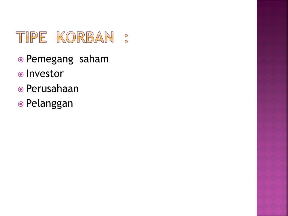  Pemegang saham  Investor  Perusahaan  Pelanggan