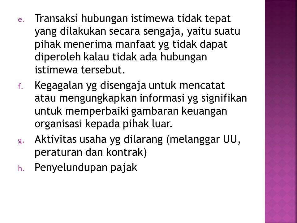  Penyebab Utama  Penyembunyian (concealment)  Kesempatan / peluang (opportunity)  Motivasi (motivation)  Daya tarik (attraction)  Keberhasilan (success)