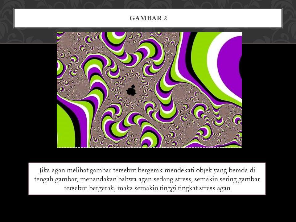 GAMBAR 2 Jika agan melihat gambar tersebut bergerak mendekati objek yang berada di tengah gambar, menandakan bahwa agan sedang stress, semakin sering gambar tersebut bergerak, maka semakin tinggi tingkat stress agan