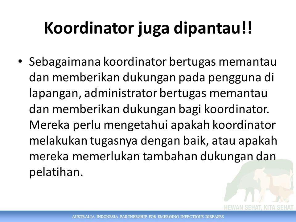 AUSTRALIA INDONESIA PARTNERSHIP FOR EMERGING INFECTIOUS DISEASES Koordinator juga dipantau!.