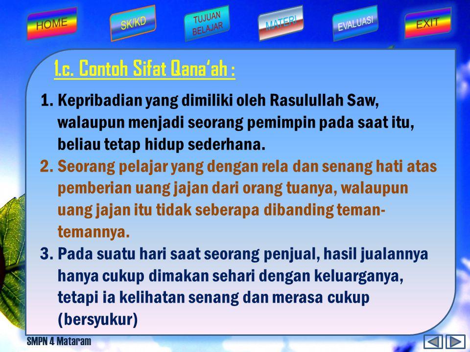 SMPN 4 Mataram Dari Abu Hurairah رضي الله عنه bahwa Rasulullah صلی الله عليه وسلم bersabda: