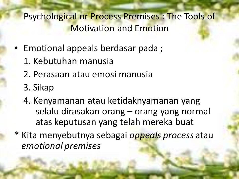 Consistency : The Fourth Process Premise Kita merasa nyaman ketika hidup kita konsisten dengan persepsi atau prediksi kita Consistency berarti harapan kita tentang masa depan, perilaku orang lain, dsb seharusnya sesuai dengan yang kita harapkan Kita senantiasa mencari keseimbangan psikologis, jadi sebagai receivers kita perlu mengidentifikasi apa yang membuat kita tidak konsisten, sehingga membuat kita mudah terpersuasi.