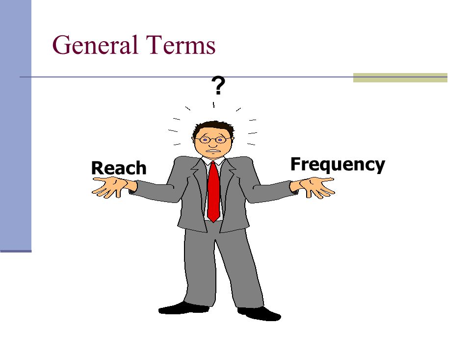 General Terms Reach Frequency ?