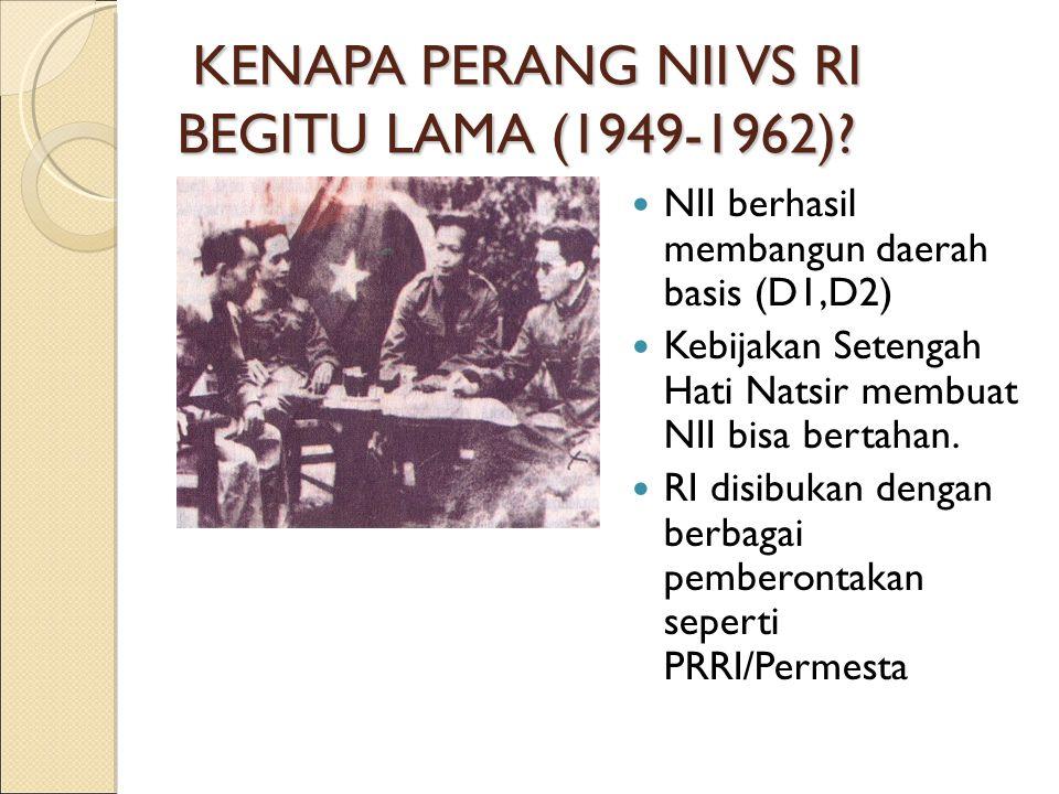 KEKALAHAN NII 1962 SMK ditangkap 1962 Semua TII turun gunung.