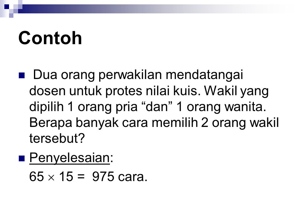 Contoh Tentukan banyaknya kata yang dapat dibentuk dari kata DISKRIT 7!/2.