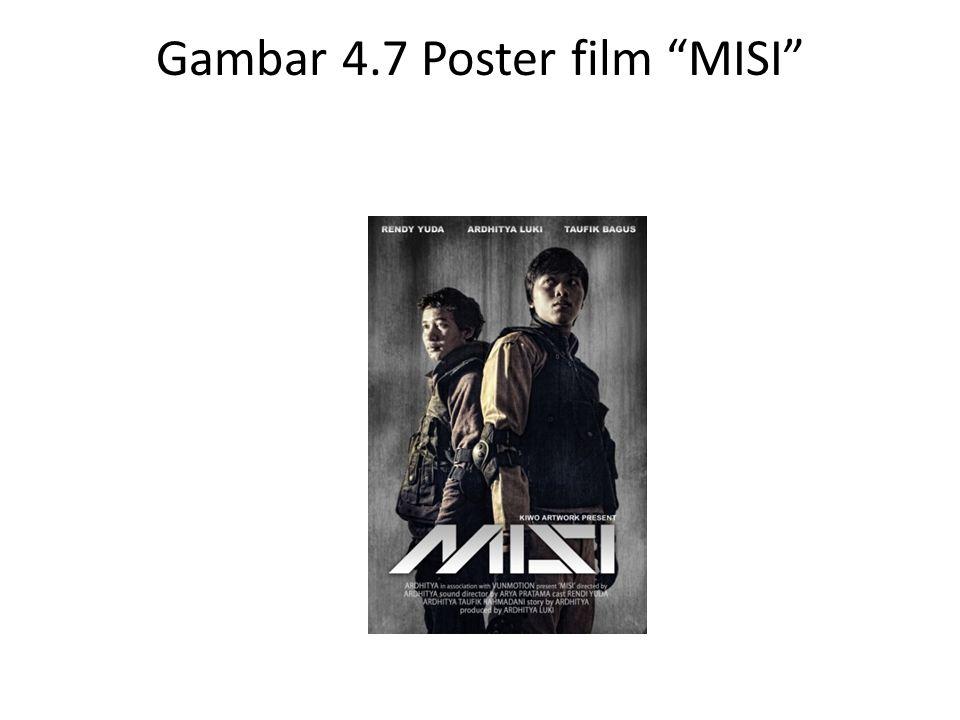 """Gambar 4.7 Poster film """"MISI"""""""