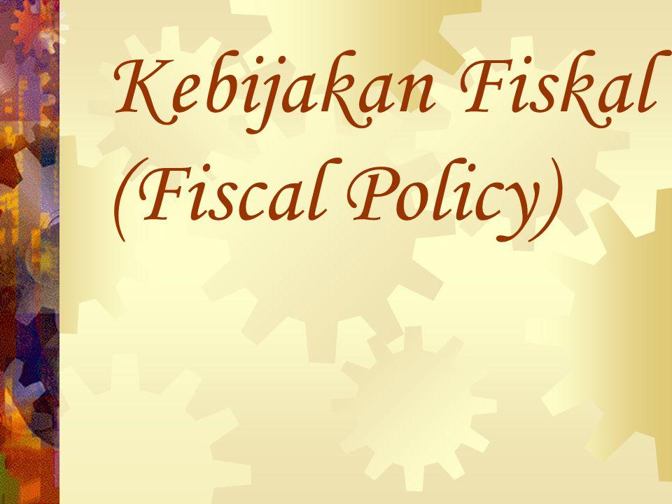 Kebijakan Fiskal (Fiscal Policy)