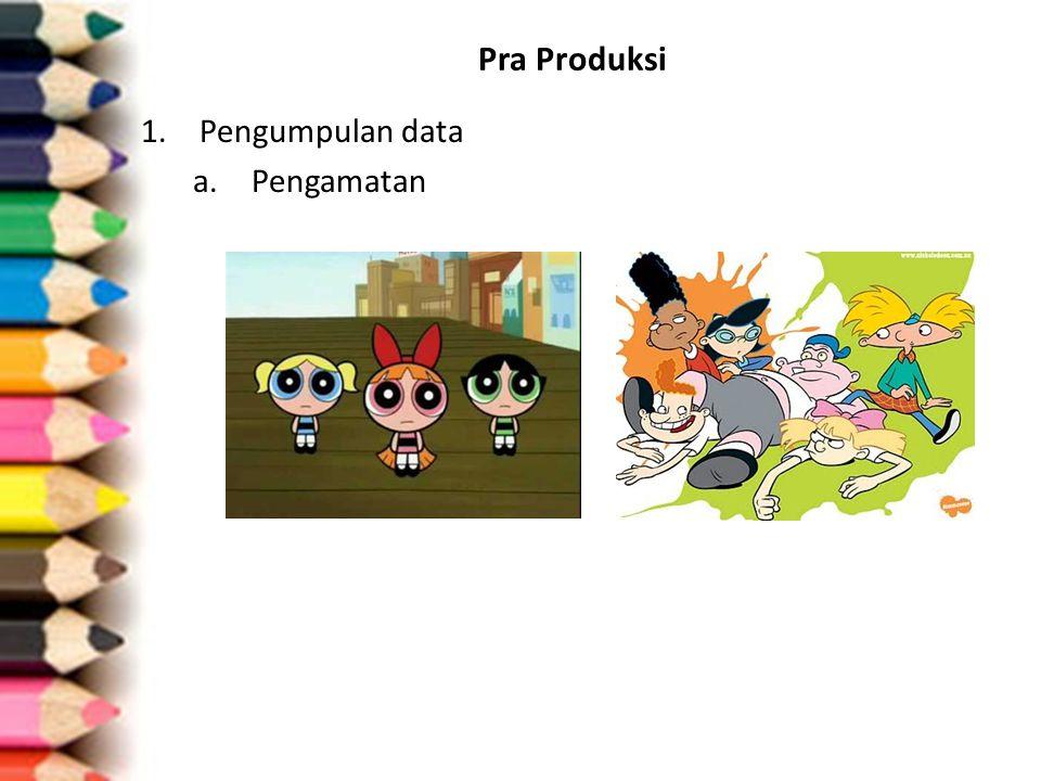 Pra Produksi 1.Pengumpulan data a.Pengamatan