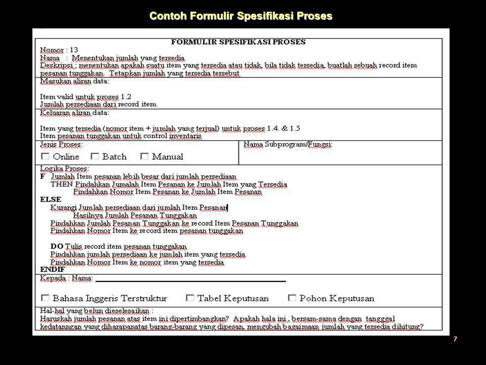Contoh Formulir Spesifikasi Proses 7