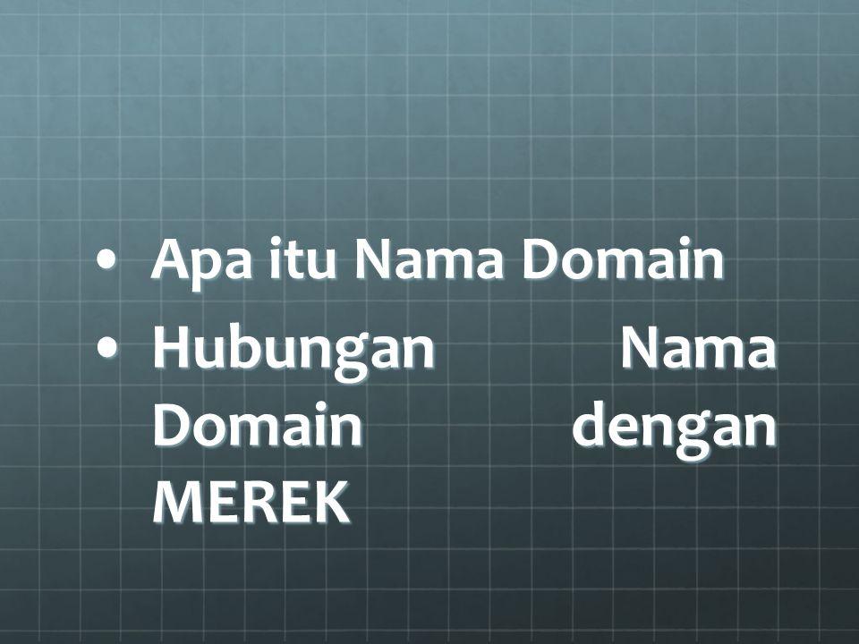 Apa itu Nama DomainApa itu Nama Domain Hubungan Nama Domain dengan MEREKHubungan Nama Domain dengan MEREK