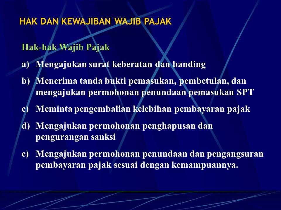 Kewajiban Wajib Pajak a.Mendaftarkan diri untuk memperoleh NPWP.