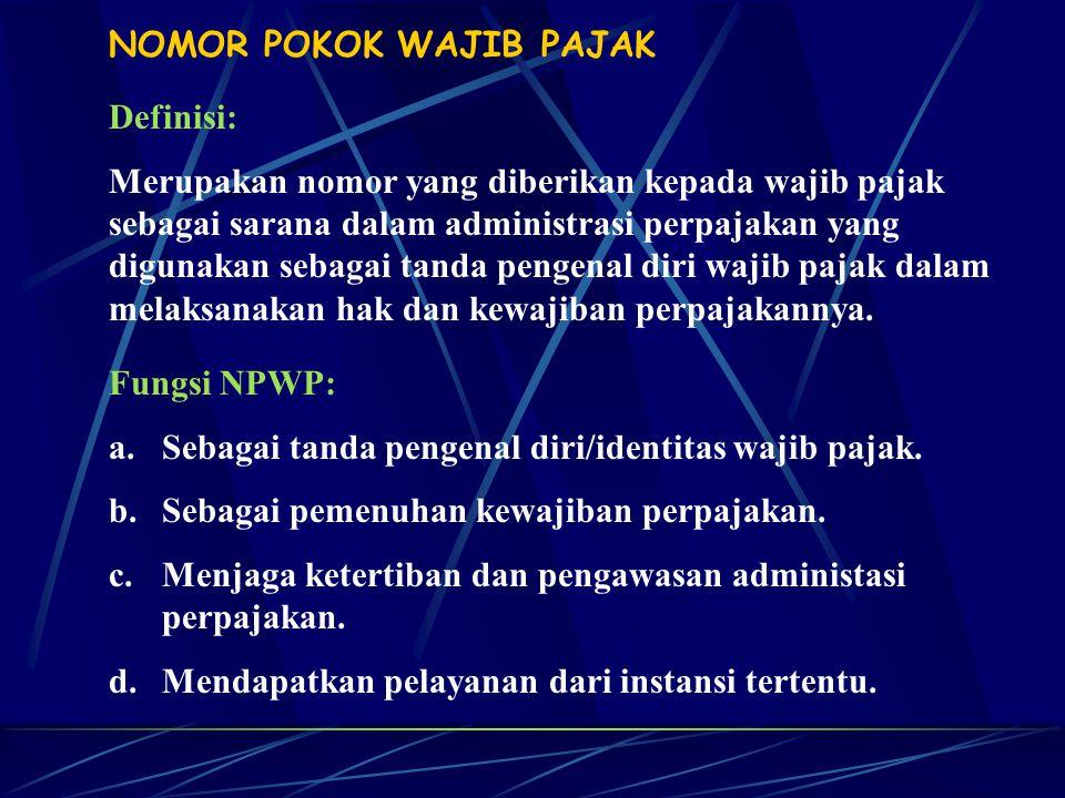 Penghapusan NPWP: a.WP orang pribadi meninggal dunia dan tidak meninggalkan warisan.