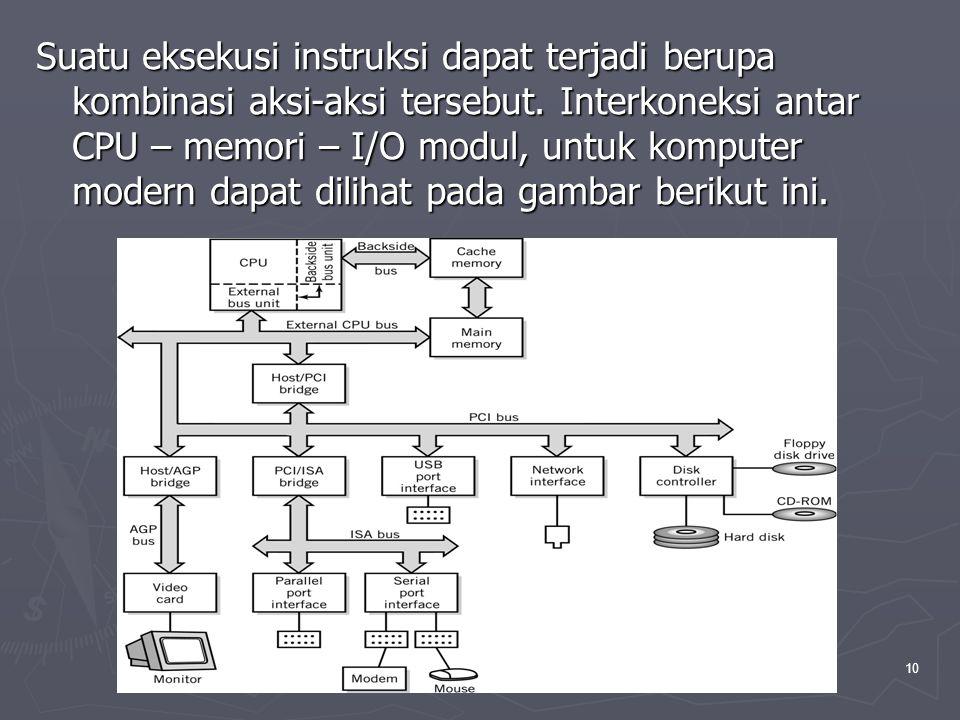 Pengantar Teknologi Informasi , Aji Supriyanto, Salemba-jkt-2005 10 Suatu eksekusi instruksi dapat terjadi berupa kombinasi aksi-aksi tersebut.