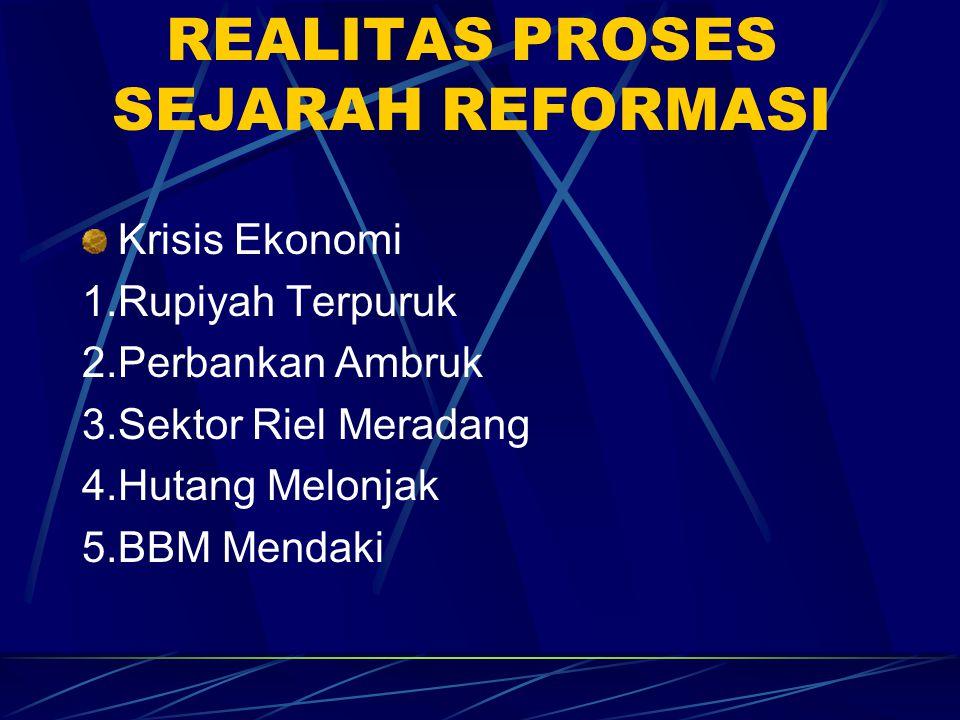 SUBSTANSI REFORMASI (Kesimpulan) Reformasi bukan barang jadi / kata benda.