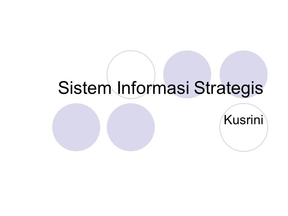 Sistem Informasi Strategis Kusrini