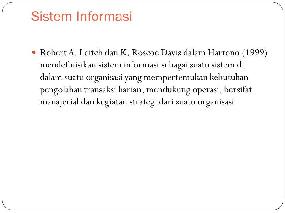 Sistem Informasi Robert A.Leitch dan K.