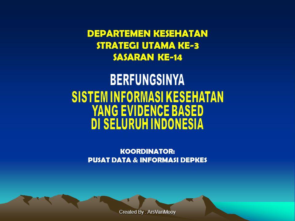 Created By : ArsVanMooy DEPARTEMEN KESEHATAN STRATEGI UTAMA KE-3 SASARAN KE-14 KOORDINATOR: PUSAT DATA & INFORMASI DEPKES
