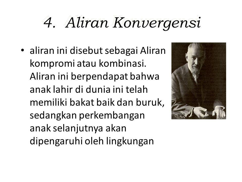 4.Aliran Konvergensi aliran ini disebut sebagai Aliran kompromi atau kombinasi.